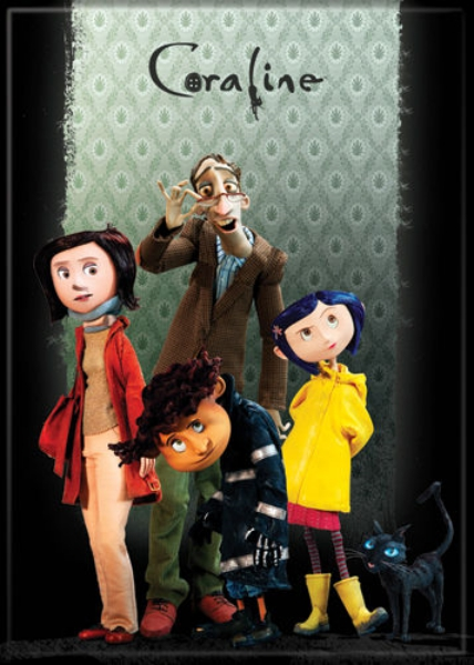 Coraline Animated Movie Family Portrait On Green Refrigerator Magnet New Unused Starbase Atlanta
