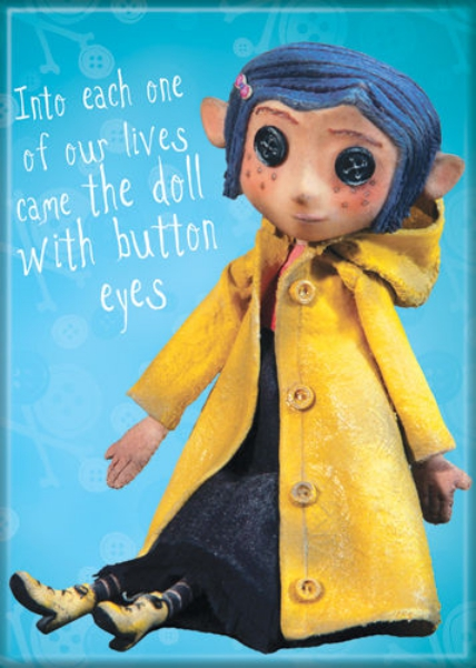 Coraline Animated Movie Doll With Button Eyes Refrigerator Magnet New Unused Starbase Atlanta