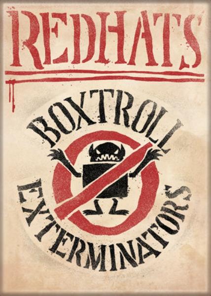The BoxTrolls Animated Movie Redhats Exterminators Logo Refrigerator Magnet NEW