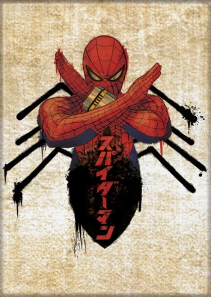 Marvel Comics Japanese Spider-Man Spider Body Comic Art Refrigerator Magnet NEW | Starbase Atlanta