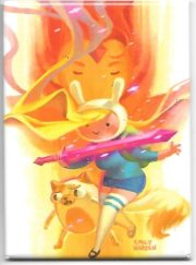 Refrigerator Magnet NEW UNUSED Adventure Time Finn and Jake Wizard Powers