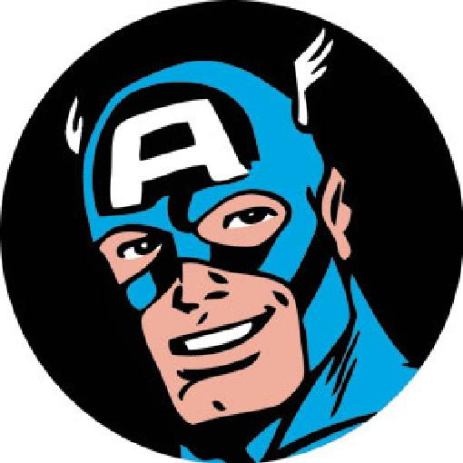 Captain America Comic Art Face Image 3 Round Refrigerator