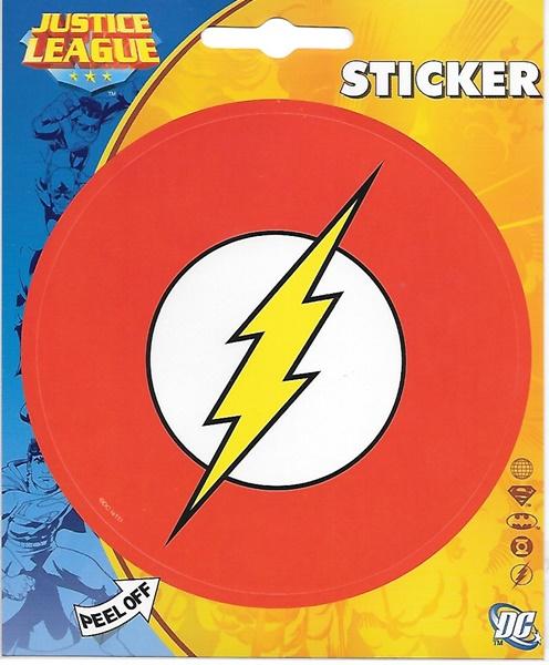 Dc comics the flash chest lightning bolt logo peel off sticker