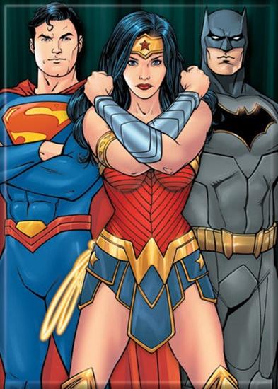 Dc Comics Superman Wonder Woman Batman Comic Art Refrigerator Magnet  Starbase Atlanta-2555