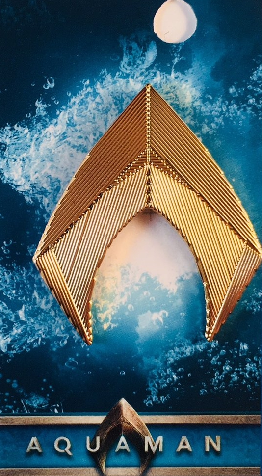 DC Comics Aquaman Logo From The Aquaman Movie Metal Enamel ...