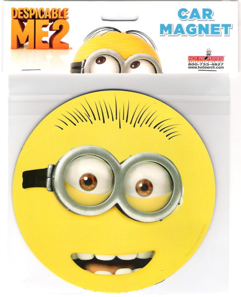 Despicable Me Movie Minion Two Eyes Goggle Face Large Car Magnet