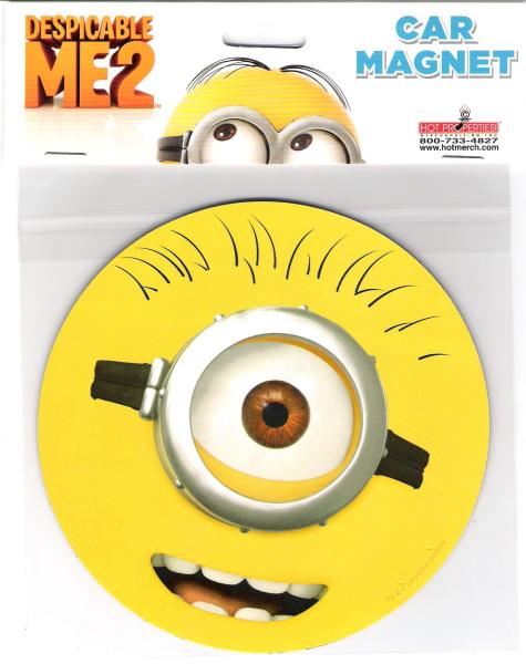 Despicable Me Movie Minion One Eye Goggle Face Large Car Magnet