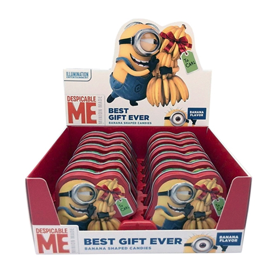 Despicable Me Minions Best Gift Ever Banana Candy in Embossed ...
