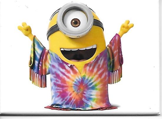 Minions Movie Minion Stuart As A Hippie Refrigerator Magnet
