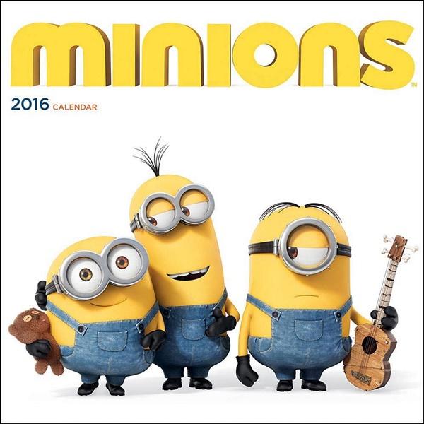Despicable Me) Minions Animated Art 12 Month 2016 Wall Calendar ...