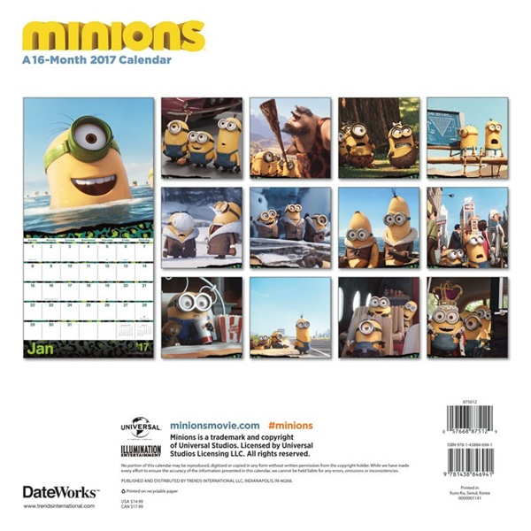 Art Calendar Atlanta : Despicable me minions movie animated art month