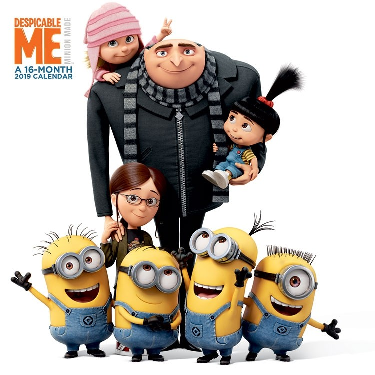 Despicable Me Movies Animated Art 16 Month 2019 Wall Calendar NEW SEALED |  Starbase Atlanta
