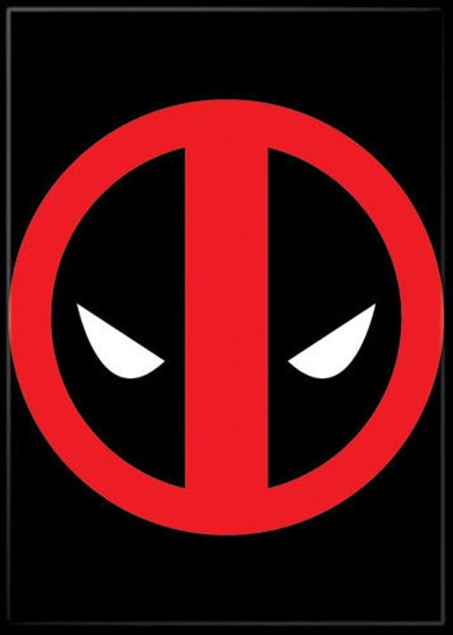 Marvel Comics Deadpool Eyes Logo Comic Art Refrigerator