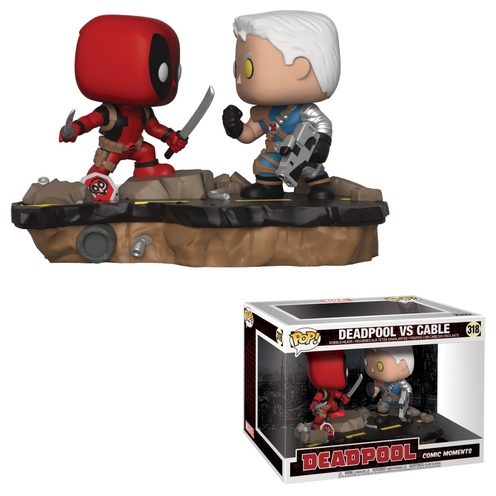 Deadpool vs Cable Marvel Comic Moment 6″ Vinyl POP! Figures