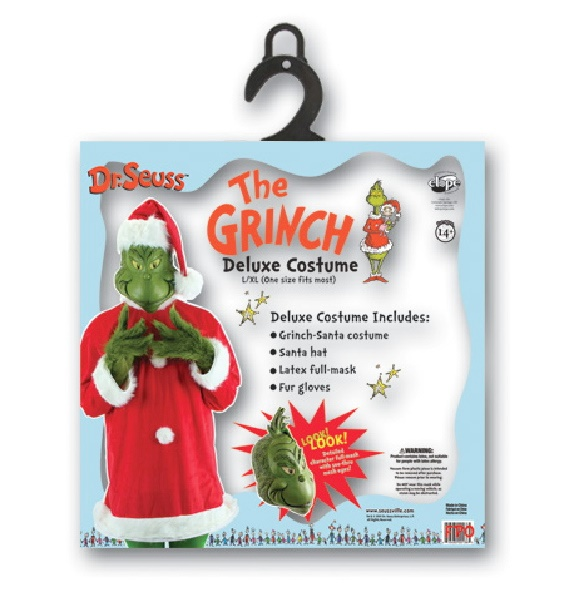 Dr. Seuss How The Grinch Stole Christmas Deluxe Adult Costume Kit Size Large/XL  sc 1 st  Starbase Atlanta & Dr. Seuss How The Grinch Stole Christmas Deluxe Adult Costume Kit ...