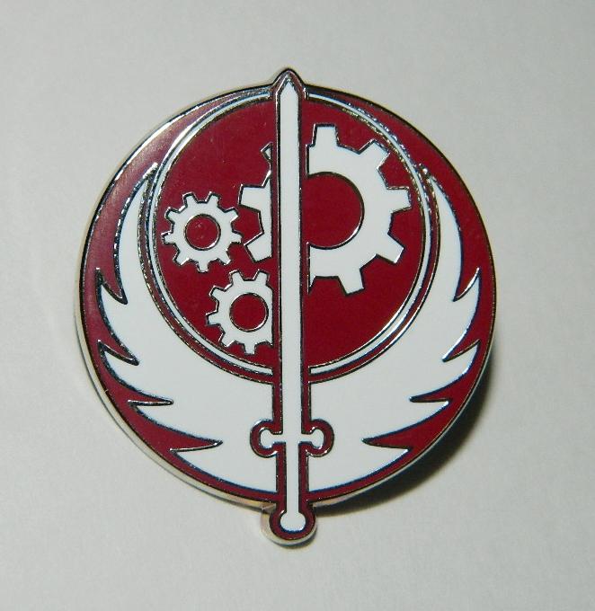 Fallout Video Game Brotherhood of Steel Sword Logo Metal