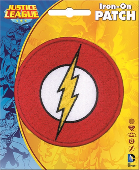 Dc Comics The Flash Comic Book Chest Logo Logo Embroidered Patch New