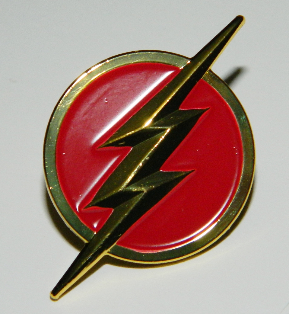 DC Comics The Flash TV Series Lightning Bolt Red Logo Metal Enamel Pin NEW  UNUSED