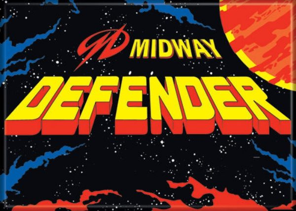 Midway Arcade Game Defender Classic Name Logo Refrigerator Magnet NEW UNUSED