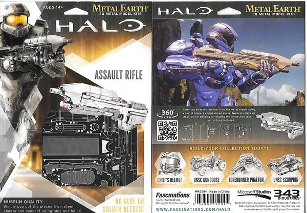 HALO Game Assault Rifle Metal Earth 3-D Laser Cut Steel Model Kit
