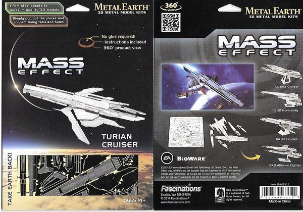 Mass Effect Game Turian Cruiser Metal Earth 3 D Laser Cut Steel