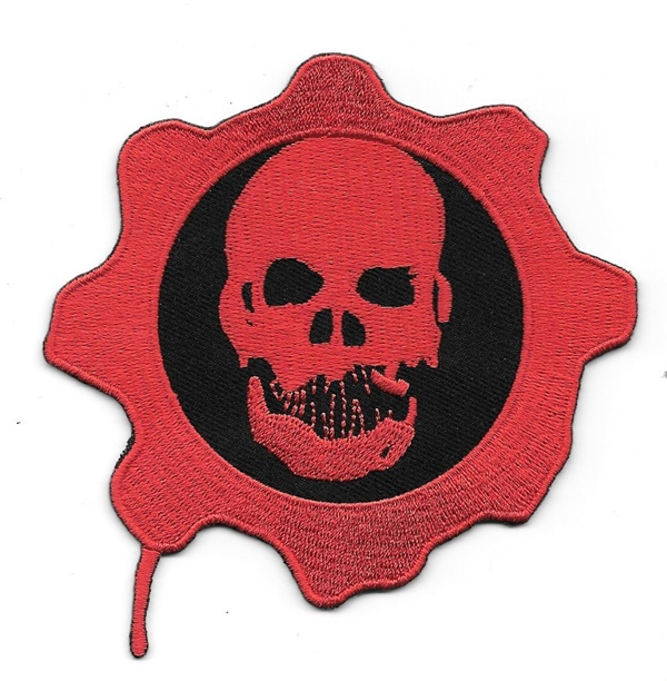 Gears Of War Game Skull And Cog Logo Embroidered Patch Starbase
