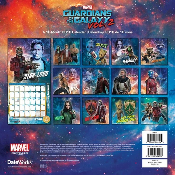 Guardians of the Galaxy Vol. 2 Movie 16 Month 2018 Wall ...