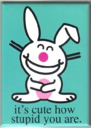 Refrigerator Magnet Happy Bunny Figure plotting revenge is fun NEW UNUSED
