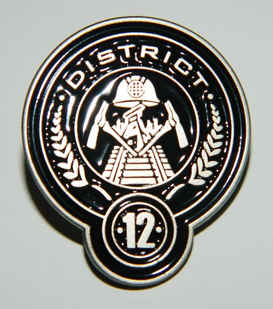 The Hunger Games Movie District 12 Logo Metal Enamel Die Cut Pin