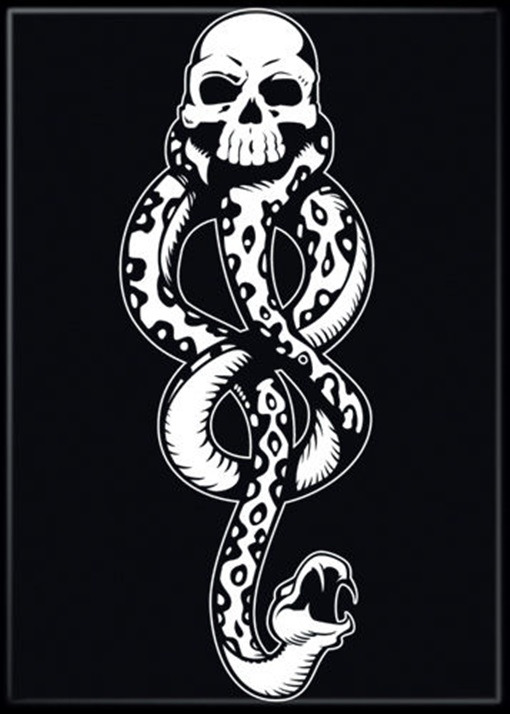 Harry Potter Dark Mark Death Eater Snake Skull Refrigerator Magnet
