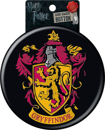 harry potter house of gryffindor crest logo 6 inch button