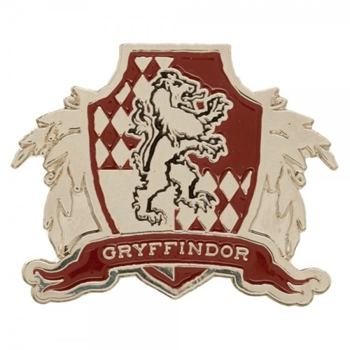Elegant Harry Potter House Of Gryffindor Gold And Red Logo Metal Pin
