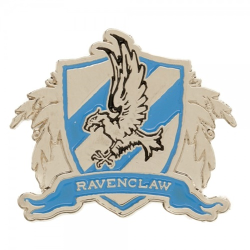 Harry Potter House Of Ravenclaw Gold And Light Blue Logo Metal Pin