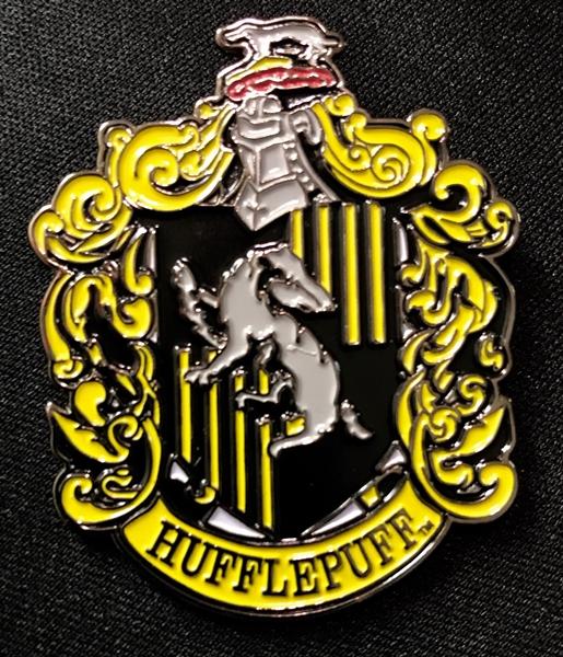 Harry Potter House Of Hufflepuff Crest Logo Large Enamel Metal Pin