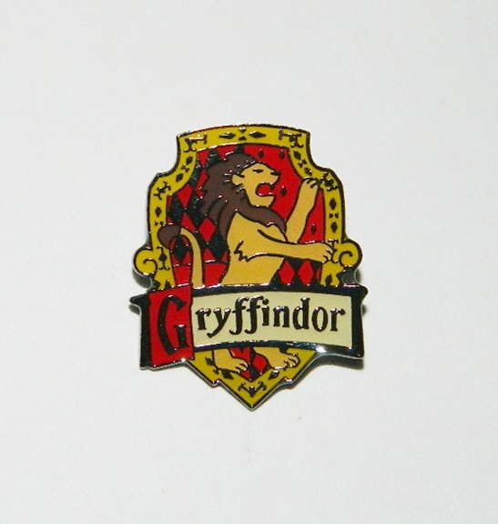 harry potter house of gryffindor british logo metal enamel