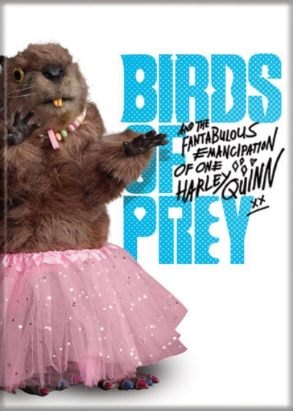 Birds Of Prey Movie Beaver In A Pink Tutu Photo Refrigerator Magnet New Unused Starbase Atlanta