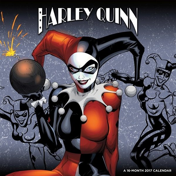 dc comics harley quinn comic art 16 month 2017 wall calendar batman