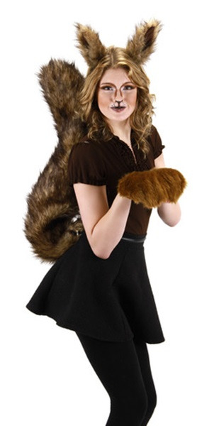 deluxe oversized squirrel tail cosplay halloween costume accessory