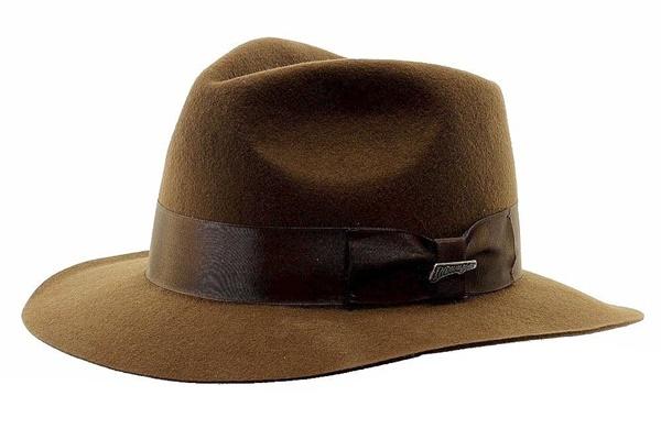 5ba661195486d Indiana Jones Authentic Movie Deluxe Dress Fedora Hat Licensed ...