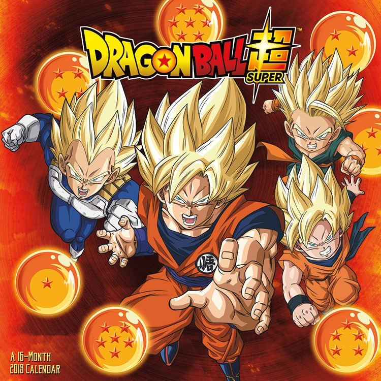 Dragon Ball Super Anime 16 Month 2019 Art Images Wall Calendar NEW SEALED