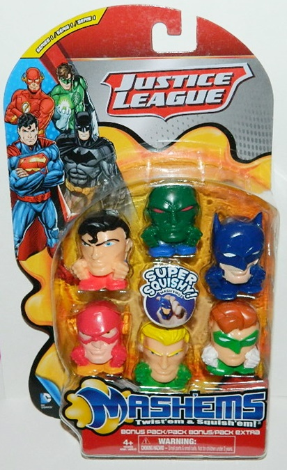 Squishy Justice : DC Comics Justice League Mashems Squishy Figures Series 1 Bonus Pack of 6 Starbase Atlanta