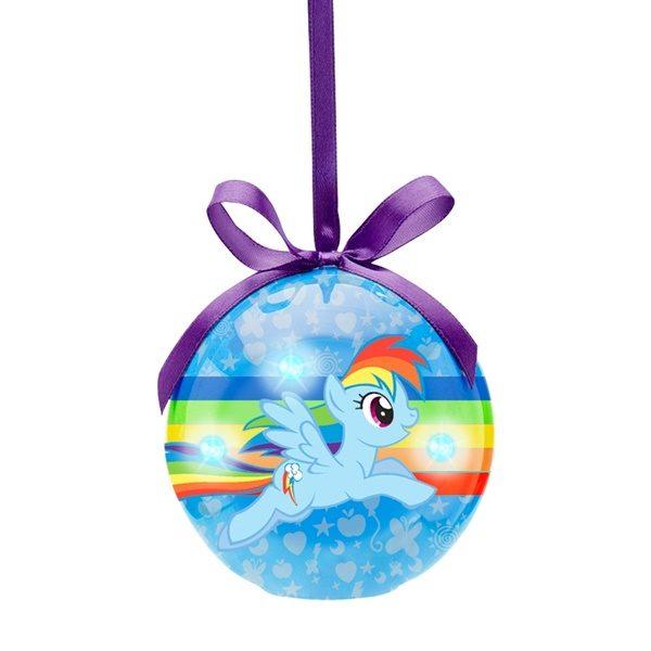 My Little Pony Rainbow Dash Decoupage LED Christmas Holiday Ornament NEW BOXED
