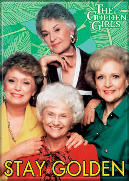 472fd275e3d The Golden Girls TV Series Cast Stay Golden Photo Refrigerator Magnet NEW  UNUSED