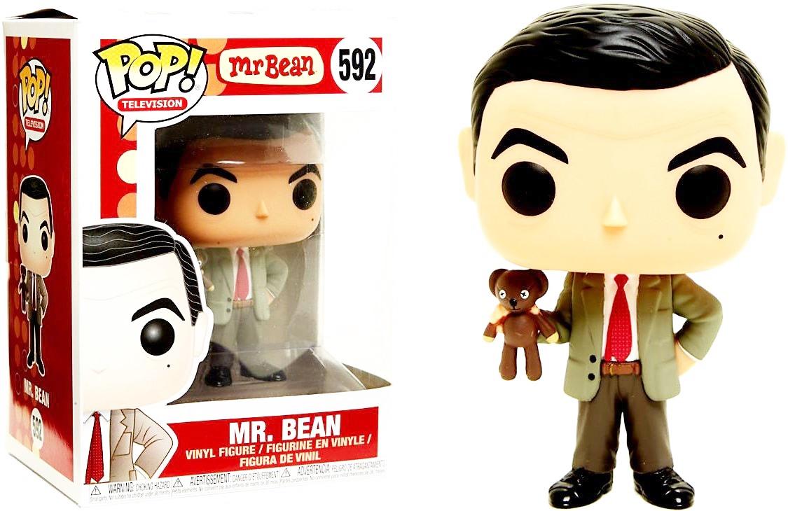 "MR BEAN WITH TEDDY 3.75/"" POP TV VINYL FIGURE FUNKO BRAND NEW 592"
