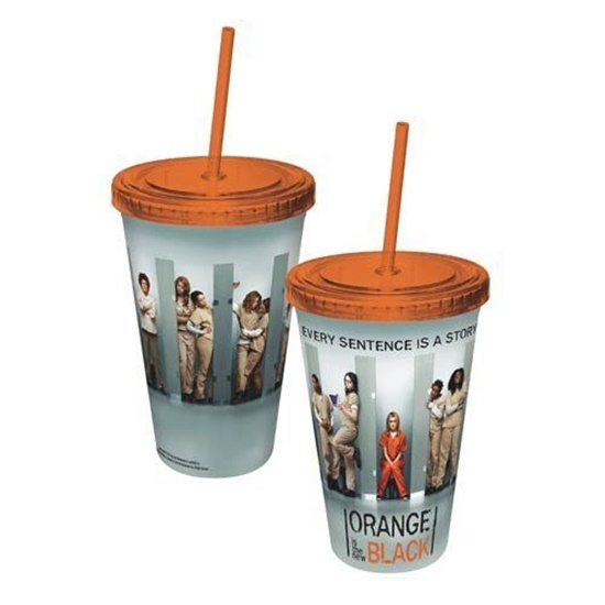 Orange Is The New Black TV Series Cast Plastic Travel Cup with Straw