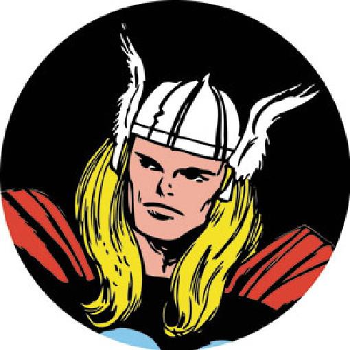 the mighty thor comic art face image 3 u2033 round refrigerator magnet rh starbaseatlanta com Wolverine Logo Hulk Logo