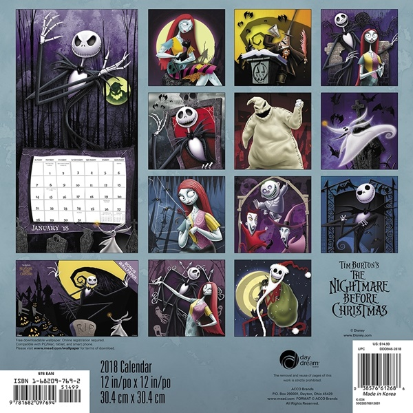 Free Comic Book Day Nightmare Before Christmas: Walt Disney The Nightmare Before Christmas Art 16 Month