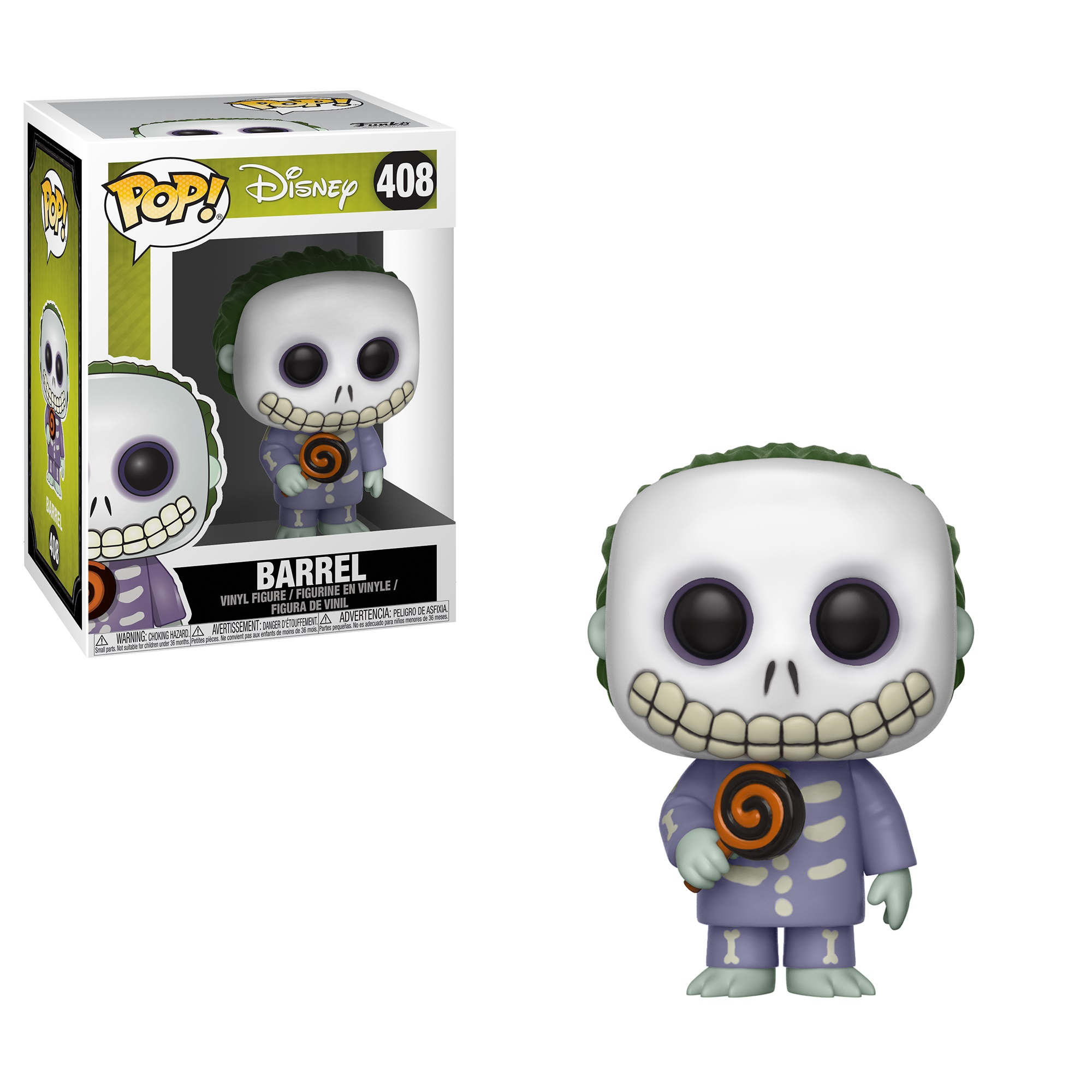 The Nightmare Before Christmas Barrel w Lollipop Vinyl POP Figure ...