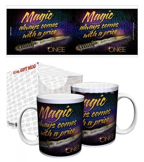 Once Upon A Time Magic Comes With A Price 11 oz Ceramic Coffee Mug BOXED