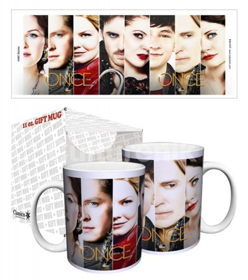 Once Upon A Time Core Cast Photo Faces 11 oz Ceramic Coffee Mug BOXED